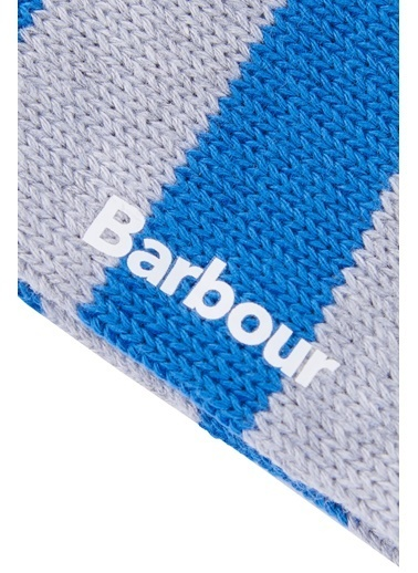 Barbour Ribbed Stripe Çorap Gy11 Lt Grey Marl Gri